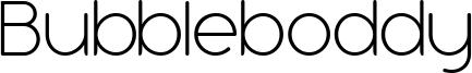 Bubbleboddy-ExtraLightTrial.ttf