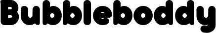 Bubbleboddy Font