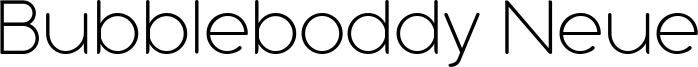 Bubbleboddy Neue Font