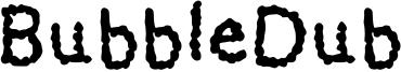 BubbleDub Font