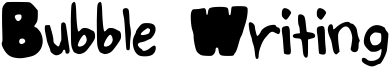 Bubble Writing Font