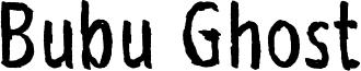 Bubu Ghost Font