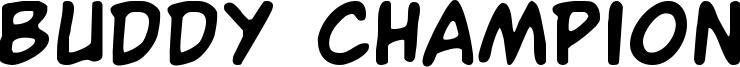 Buddy Champion Font