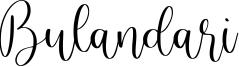 Bulandari Font