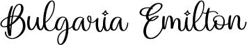 Bulgaria Emilton Font