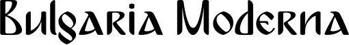 Bulgaria Moderna Font
