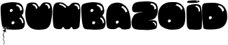Bumbazoid Font