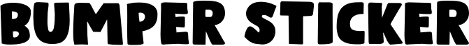 Bumper Sticker Font