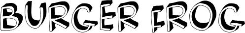 Burger Frog Font