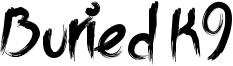 Buried K9 Font