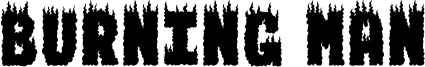 Burning Man Font