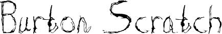 Burton Scratch Font