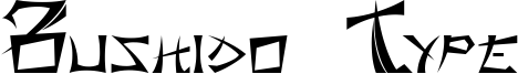Bushido Type Font