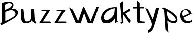 Buzzwaktype Font