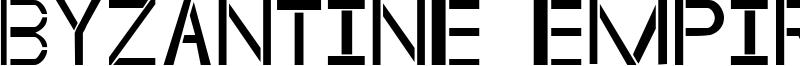 Byzantine Empire Font