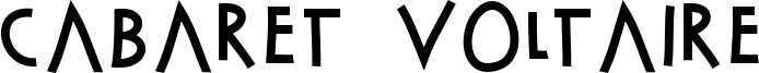 Cabaret Voltaire Font