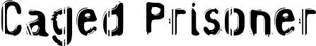 Caged Prisoner Font