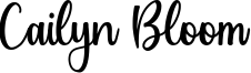 Cailyn Bloom Font
