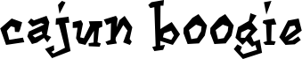 Cajun Boogie Font