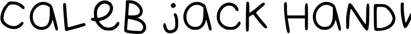 Caleb Jack Handwriting 2021 Font