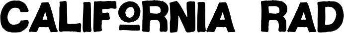 California Rad Font