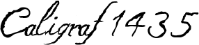 Caligraf 1435 Font