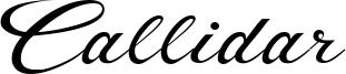 Callidar Font