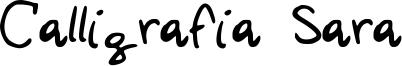 Calligrafia Sara Font