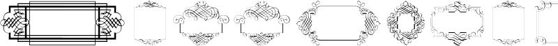Calligraphic Frames Soft Font