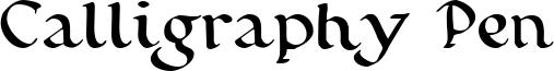 Calligraphy Pen Font