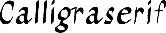 Calligraserif Font
