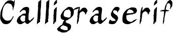 Calligraserif.otf