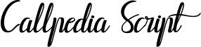 Callpedia Script Font