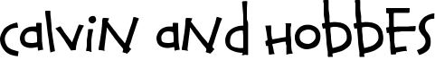 Calvin and Hobbes Font