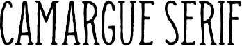 Camargue Serif Font