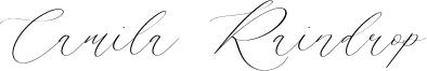 Camila Raindrop Font