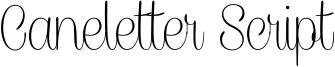 CaneletterScriptThin_PersonalUse.otf