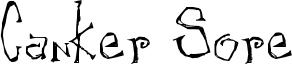 Canker Sore Font