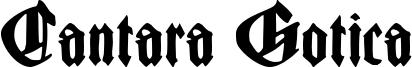 Cantara Gotica Font