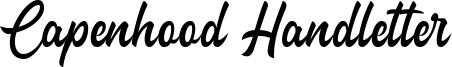 Capenhood Handletter Font
