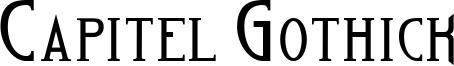 Capitel Gothick Font