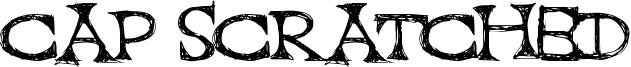 Cap Scratched Font