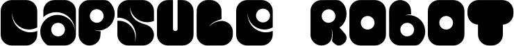 Capsule Robot Font