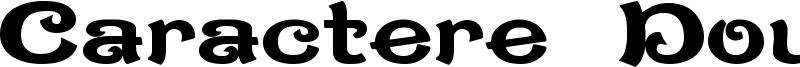 Caractere Doublet Font