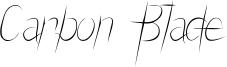 Carbon Blade Font