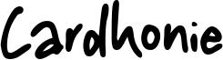 Cardhonie Font