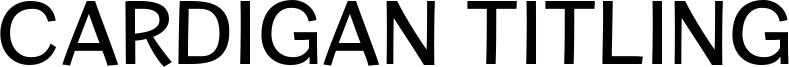 Cardigan Titling Font