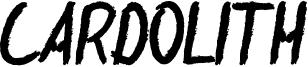 Cardolith Font