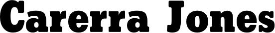 Carerra Jones Font