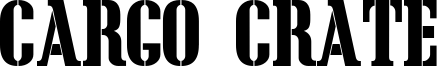 Cargo Crate Font